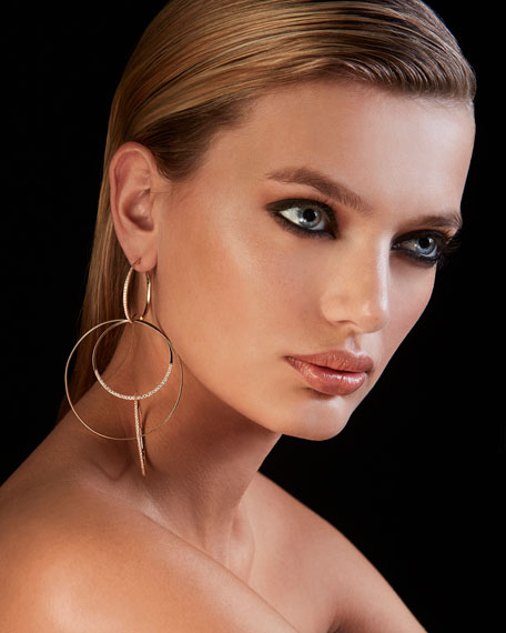 Flawless Large Bond Link Earrings with Diamonds