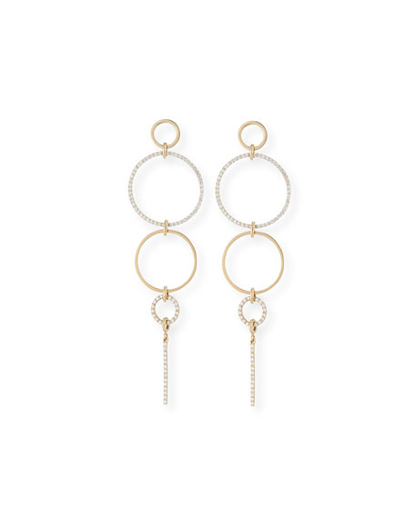 Lana Flawless Multi-Hoop & Diamond Drop Earrings
