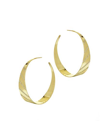 Lana Jewelry Flawless Diagonal Diamond Hoop Earrings PCffEuZ