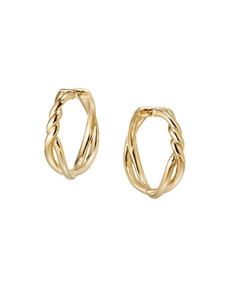 David Yurman 21mm Continuance 18K Gold Hoop Earrings