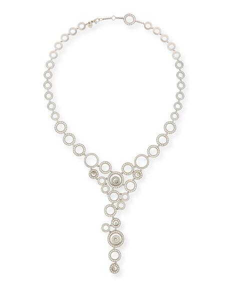 Happy Spirit 18k White Gold Diamond Y-Drop Statement Necklace