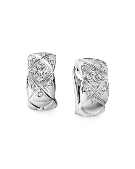 COCO CRUSH EARRINGS IN 18K WHITE GOLD & DIAMONDS