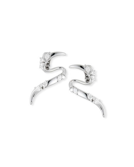 Yeprem 18K White Gold Climber Earrings with Diamonds