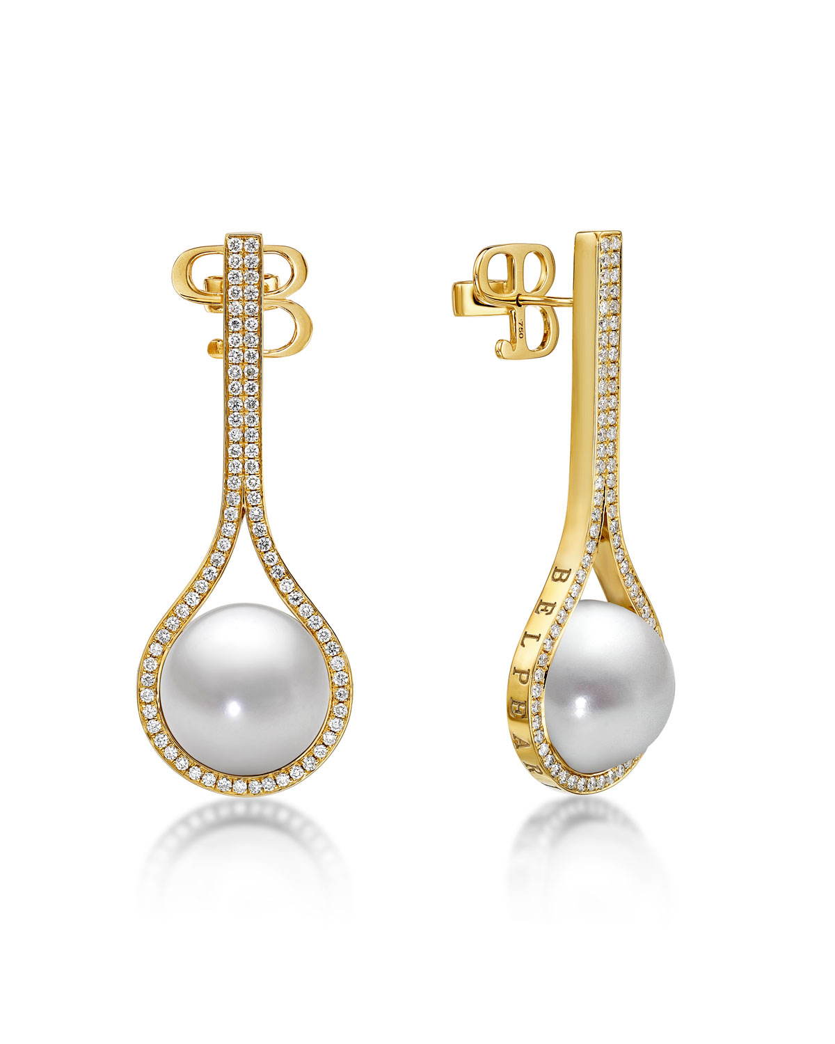 Belpearl Kobe Drop Pearl & Diamond Earrings