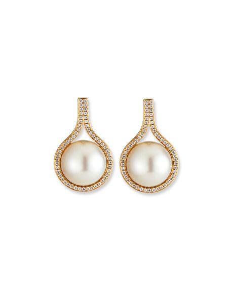 Belpearl Kobe Pearl & Diamond Clip Earrings