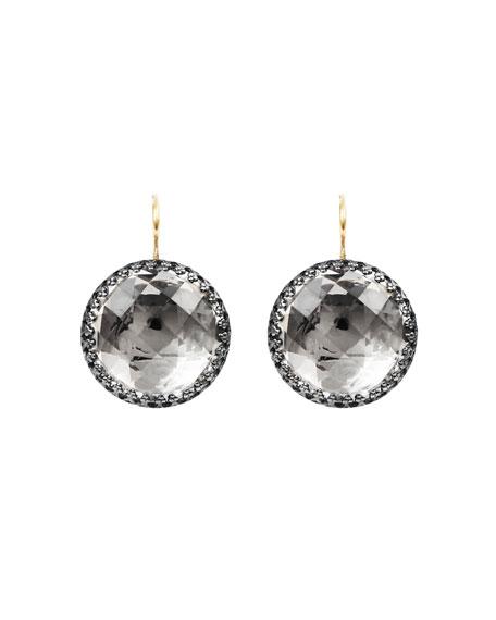 Larkspur & Hawk Olivia Black Rhodium-Washed Earrings in Dove Foil