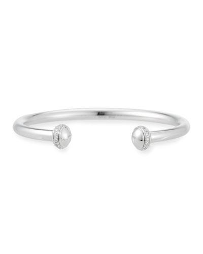 Possession Open Cuff Bracelet with Diamonds in 18K White Gold