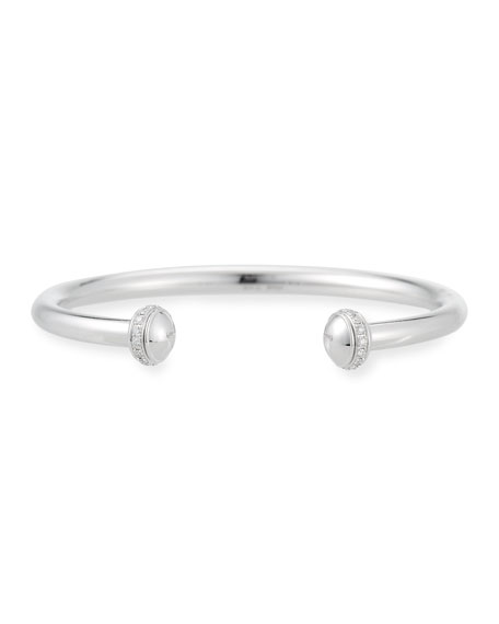 Possession Open Cuff Bracelet with Diamonds in 18K White Gold