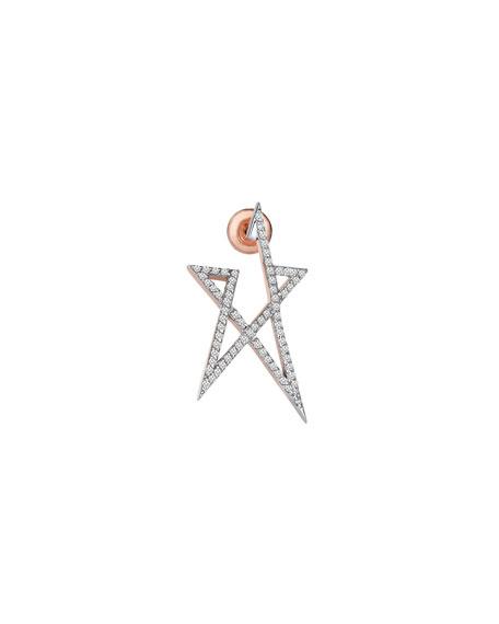 Struck Star Small 14k Doodle Single Stud Earring