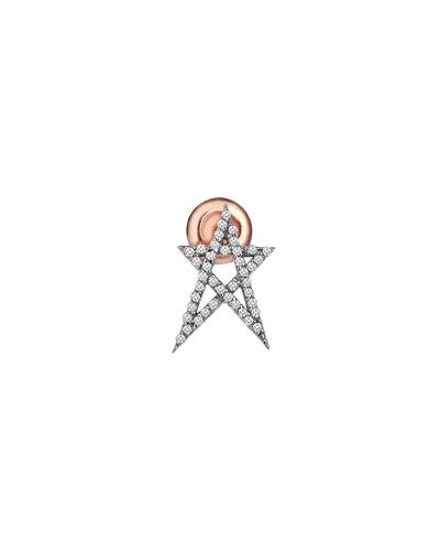 Struck Star 14k Doodle Single Stud Earring