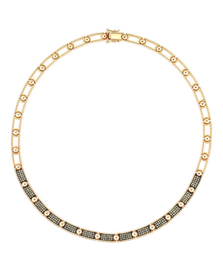 Kismet by Milka Beads 14k Champagne Diamond Choker