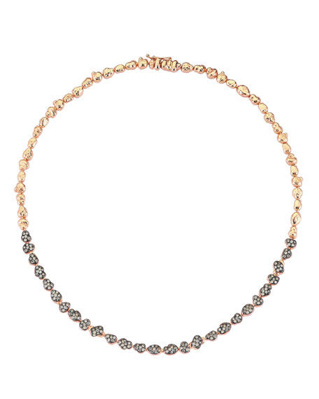 Beyond 14k Diamond Meteorite Necklace