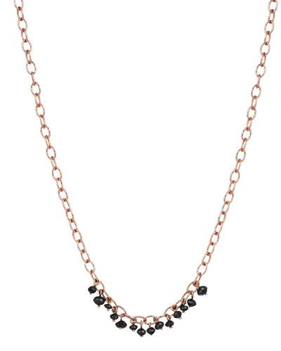 Raw 14K Black Diamond Necklace