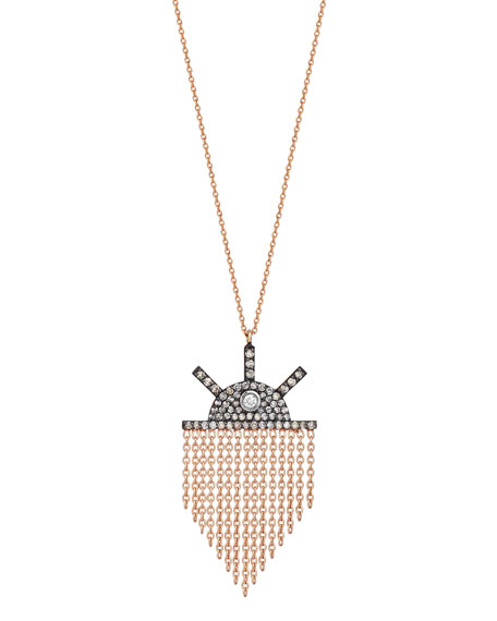 Beyond 14k Diamond Orbit Pendant Necklace