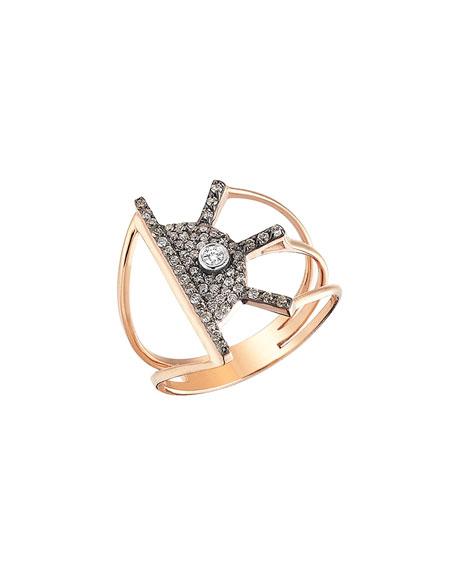 Beyond 14k Diamond Orbit Ring, Size 6.75