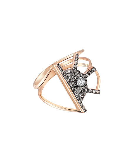 Kismet by Milka Beyond 14k Diamond Orbit Ring,