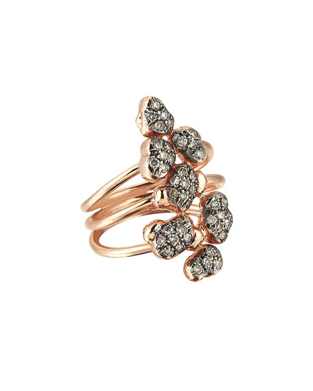 Beyond 14k Diamond Meteorite Ring, Size 6.75