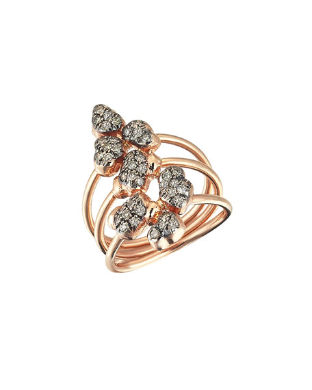 Kismet by Milka Beyond 14k Diamond Meteorite Ring,