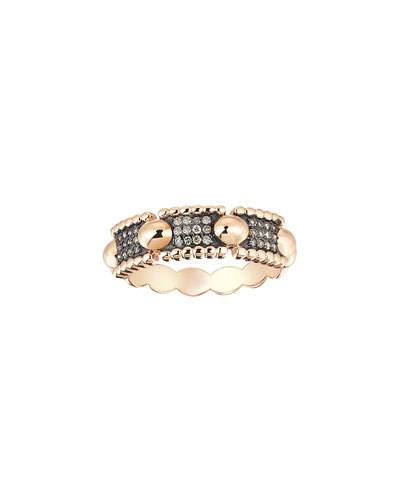 Beads 14k Diamond Three-Row Ring, Size 6.75