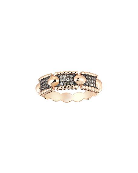 Kismet by Milka Beads 14k Diamond Three-Row Ring,