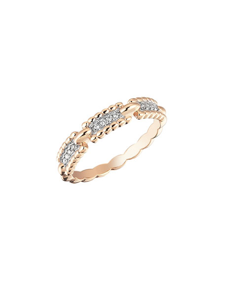 Beads 14k Diamond One-Row Ring, Size 6.75