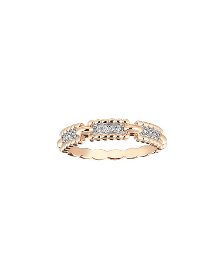 Kismet by Milka Beads 14k Diamond One-Row Ring,