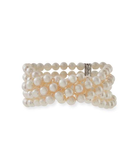 Five-Row Akoya Pearl Bracelet