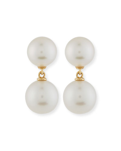 South Sea Pearl Double-Drop Earrings