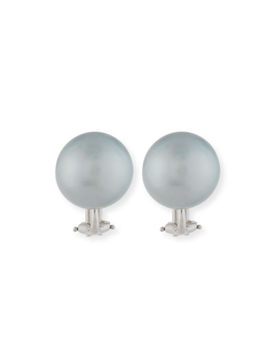 13.9mm Tahitian Pearl Earrings
