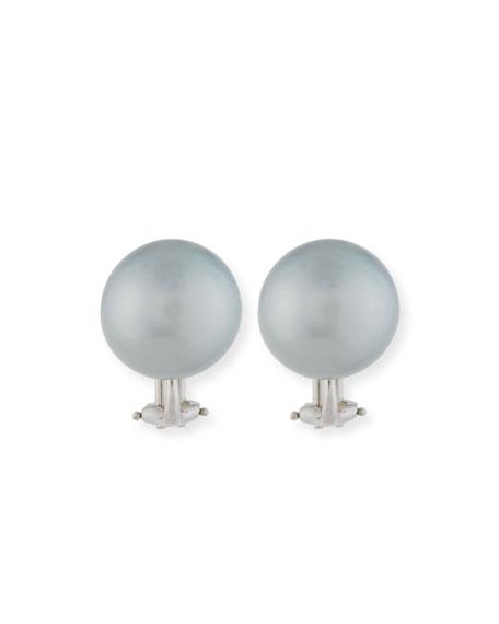 13.9mm Tahitian Pearl Earrings