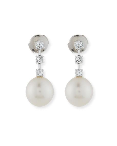 Assael Pavé Diamond & South Sea Pearl Drop Earrings tPCkvZHYWs