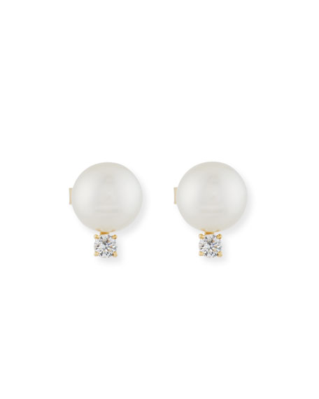 Assael 11mm South Sea Pearl & Diamond Earrings