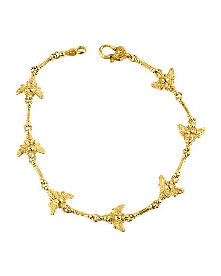 Konstantino 18k Yellow Gold Bee Bracelet