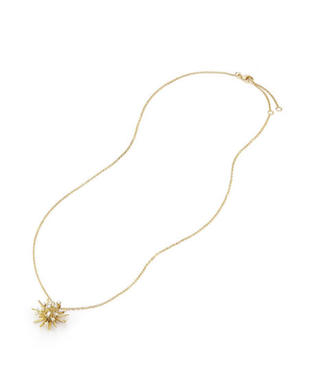 David Yurman Supernova Small Diamond Pendant Necklace in 18K Yellow Gold