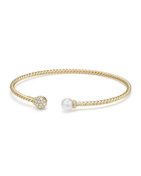 Solari Pearl & Diamond Bracelet, Size L