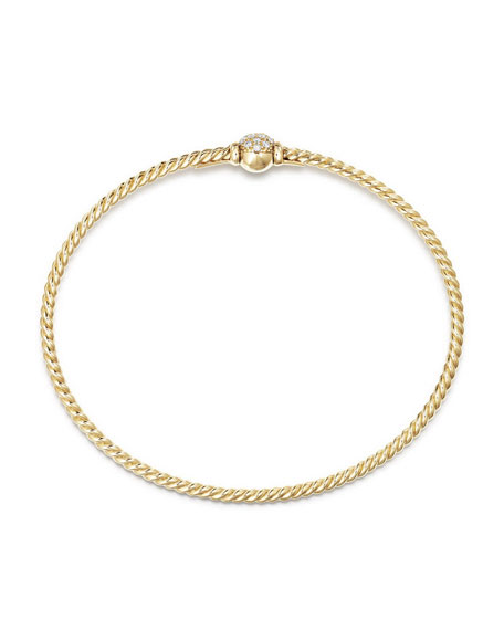 Petite Solari Diamond Single Station Bracelet, Size L