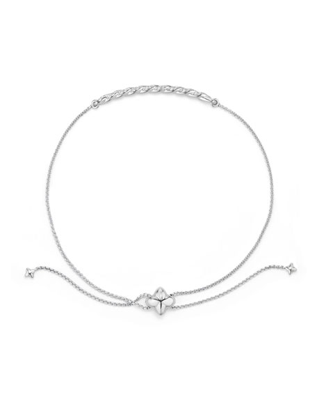 Petite Paveflex 18K White Gold Station Bracelet with Diamonds