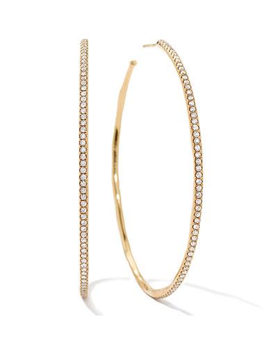 Stardust #4 XL Diamond Hoop Earrings in 18k Gold