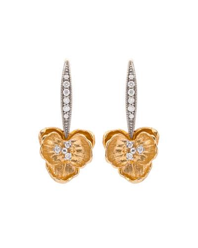 Orchid Diamond Drop Earrings