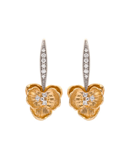 Orchid Diamond Drop Earrings