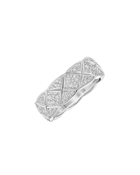COCO CRUSH RING IN 18K WHITE GOLD & DIAMONDS, SMALL VERSION