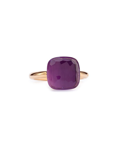 Nudo Rose Gold & Amethyst Ring, Grande