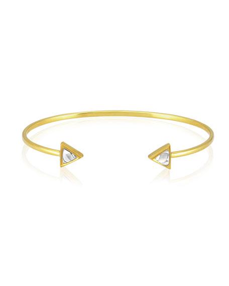 Kundan Open Diamond Triangle Cuff Bracelet