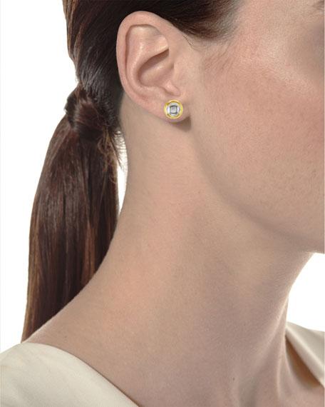 Kundan Round Diamond Stud Earrings