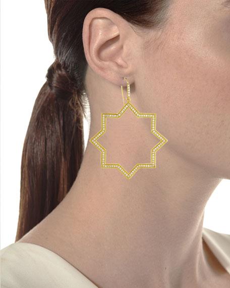 Star Silhouette Drop Earrings with Diamonds