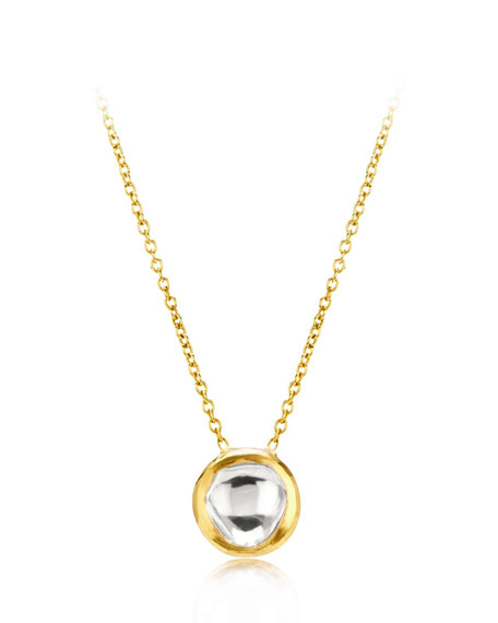 Kundan Diamond Bezel Pendant Necklace