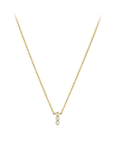 Tarakini Three-Diamond Pendant Necklace