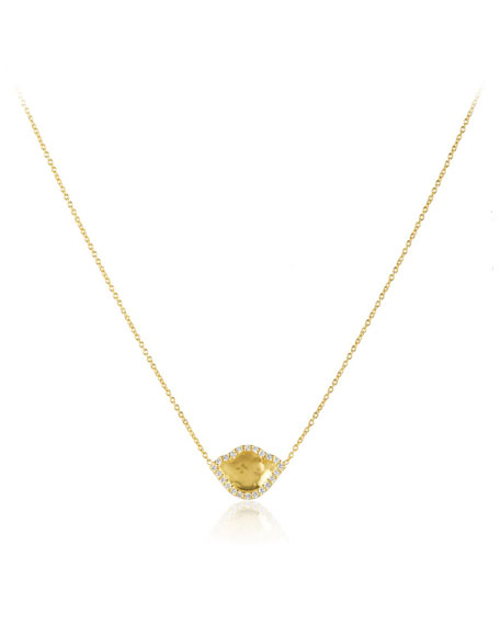 Nalika Lotus Pendant Necklace with Diamonds
