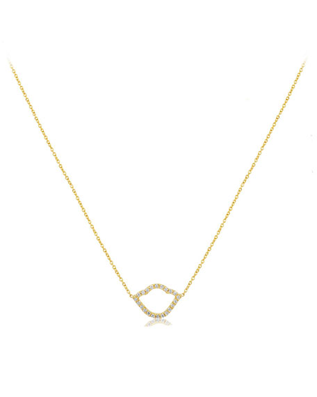 Nalika Open Lotus Necklace with Diamonds