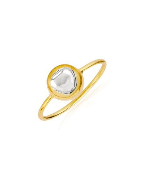 Kundan Round Diamond Bezel Ring